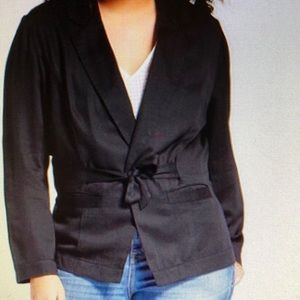 A New Day black tie blazer with front pockets